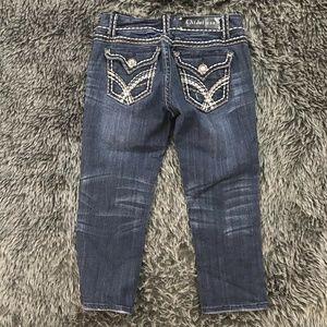 LA Idol Flap Pocket Capri Cropped Jeans